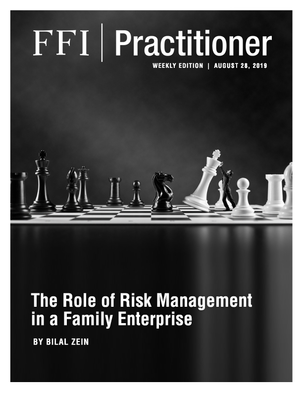 The Role of Risk Management in a Family Enterprise